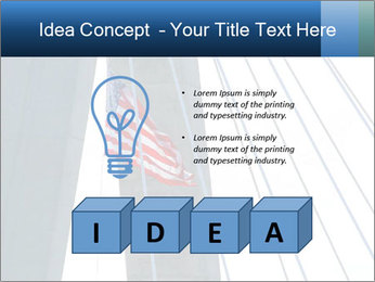 Bridge And American Flag PowerPoint Template - Slide 80