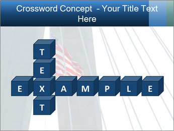 Bridge And American Flag PowerPoint Template - Slide 82