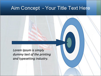 Bridge And American Flag PowerPoint Template - Slide 83