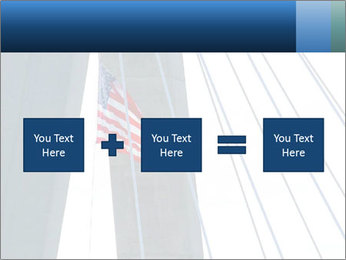 Bridge And American Flag PowerPoint Template - Slide 95