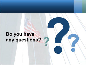 Bridge And American Flag PowerPoint Template - Slide 96