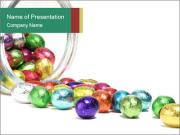 Chocolate Easter Candies PowerPoint Template