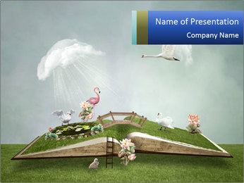Book Of Nature PowerPoint Template - Slide 1