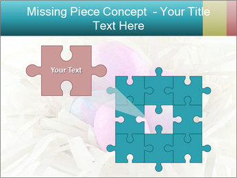 Pink And Blue Easter Eggs PowerPoint Template - Slide 45
