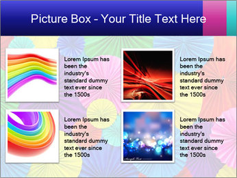 Abstract of colorful paper filigree strips folded in waves PowerPoint Template - Slide 14