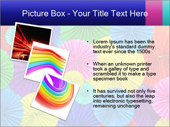 Abstract of colorful paper filigree strips folded in waves PowerPoint Template - Slide 17