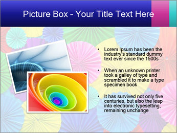 Abstract of colorful paper filigree strips folded in waves PowerPoint Template - Slide 20