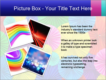 Abstract of colorful paper filigree strips folded in waves PowerPoint Template - Slide 23