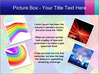 Abstract of colorful paper filigree strips folded in waves PowerPoint Template - Slide 24