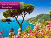 Scenic picture view of famous Amalfi Coast, Italy PowerPoint Templates
