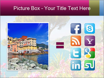 Scenic picture view of famous Amalfi Coast, Italy PowerPoint Template - Slide 21