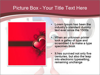 Cartoon Character of heart with dumbbells PowerPoint Template - Slide 13
