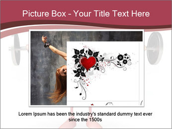 Cartoon Character of heart with dumbbells PowerPoint Template - Slide 16