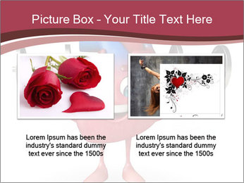 Cartoon Character of heart with dumbbells PowerPoint Template - Slide 18