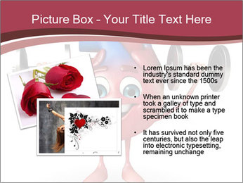 Cartoon Character of heart with dumbbells PowerPoint Template - Slide 20