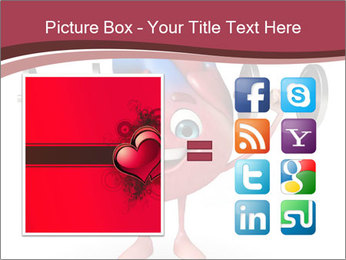 Cartoon Character of heart with dumbbells PowerPoint Template - Slide 21