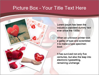 Cartoon Character of heart with dumbbells PowerPoint Template - Slide 23