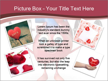 Cartoon Character of heart with dumbbells PowerPoint Template - Slide 24