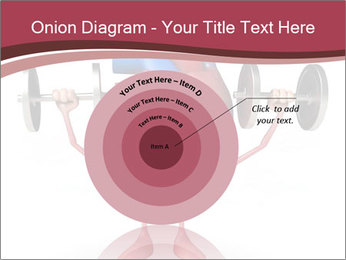 Cartoon Character of heart with dumbbells PowerPoint Template - Slide 61