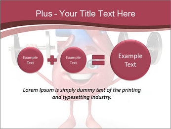 Cartoon Character of heart with dumbbells PowerPoint Template - Slide 75