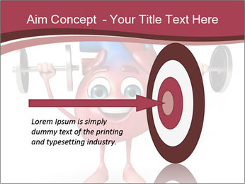 Cartoon Character of heart with dumbbells PowerPoint Template - Slide 83