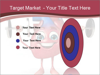 Cartoon Character of heart with dumbbells PowerPoint Template - Slide 84