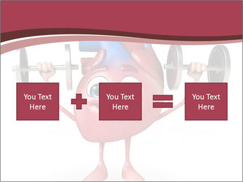 Cartoon Character of heart with dumbbells PowerPoint Template - Slide 95