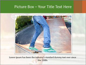 Fashion lifestyle, beautiful young woman with longboard PowerPoint Templates - Slide 15