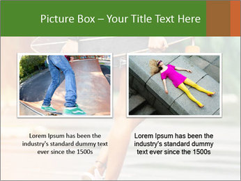Fashion lifestyle, beautiful young woman with longboard PowerPoint Template - Slide 18
