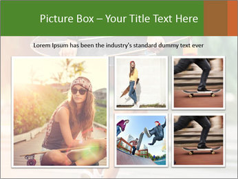 Fashion lifestyle, beautiful young woman with longboard PowerPoint Template - Slide 19