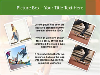 Fashion lifestyle, beautiful young woman with longboard PowerPoint Template - Slide 24