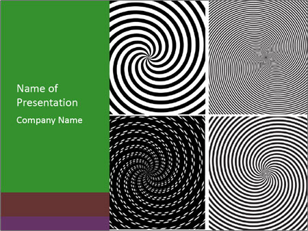 Set of abstract spiral PowerPoint Templates