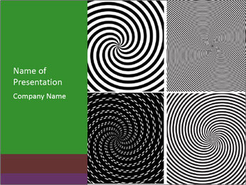 Set of abstract spiral PowerPoint Template