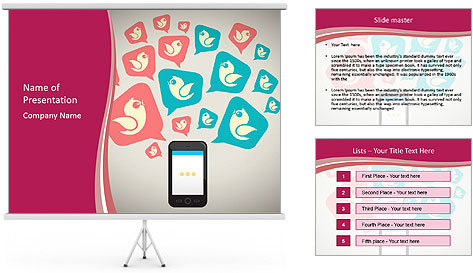 Messaging Stock PowerPoint Template