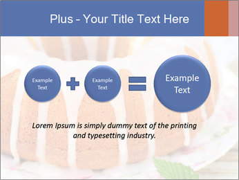 Summer Bundt Cake Topped with Sugar Glaze PowerPoint Templates - Slide 75