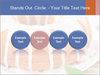 Summer Bundt Cake Topped with Sugar Glaze PowerPoint Templates - Slide 76