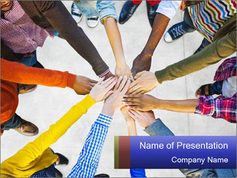 Diverse Multiethnic People Teamwork PowerPoint Template