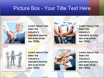 Diverse Multiethnic People Teamwork PowerPoint Template - Slide 14