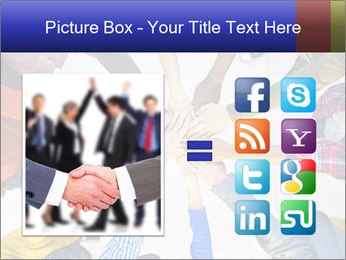 Diverse Multiethnic People Teamwork PowerPoint Template - Slide 21