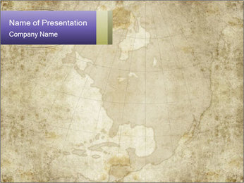 Antique Map PowerPoint Template