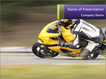 Extreme Moto Ride PowerPoint Template - Slide 1