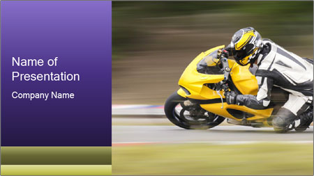 Extreme Moto Ride PowerPoint Template