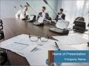 Colleagues At Boardroom PowerPoint Template