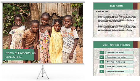 African Kids PowerPoint Template