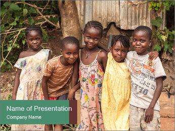 African Kids PowerPoint Template - Slide 1