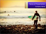 Solo Surfer PowerPoint Templates