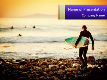 Solo Surfer PowerPoint Template - Slide 1