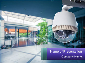 Video Security System PowerPoint Template - Slide 1