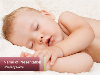 Sweet Baby Dream PowerPoint Template - Slide 1