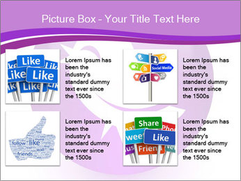 Lilac Twitter Icon PowerPoint Templates - Slide 14